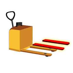 Electric Walkie Order Picker Vector Img