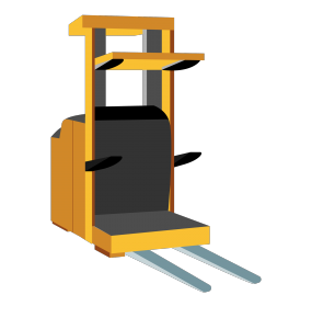 Raised Platform Order Picker Vector Img